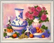 Набор для вышивки бисером Розы и виноград