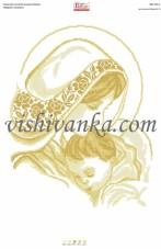 Схема для вышивки бисером на атласе Мадонна і немовля Вишиванка А2-104 атлас