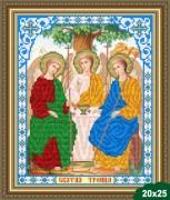 Рисунок на ткани для вышивки бисером Святая  троица