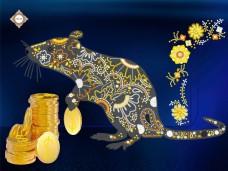 Схема вышивки бисером на атласе Несу богатство Миледи СЛ-3389