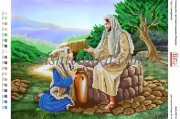 Схема для вышивки бисером на атласе Ісус і самарянка