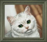 Набор для вышивки бисером Белый котик