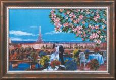 Набор для вышивки бисером Парижский поцелуй Магия канвы Б-116 Мк