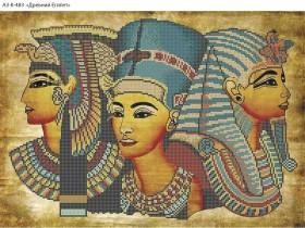 Схема для вышивки бисером на габардине Древний Египет, , 70.00грн., А3-К-483, Acorns, Люди