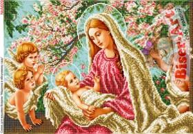 Схема вышивки бисером на габардине Марія в яблуневому саду Biser-Art 30х40-А609 - 76.00грн.