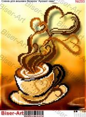 Схема вышивки бисером на габардине Аромат кави Biser-Art 20х30-293