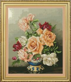 Набор для вышивки нитками Букет роз