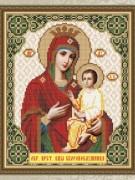 Схема для вышивки бисером на габардине Богородица Скоропослушница