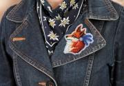 Набор для вышивания бисером украшения Лисичка