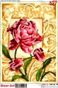 Схема вышивки бисером на габардине Квітка
