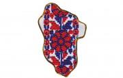 Набор - магнит для вышивки бисером Карта Украины Луганская область