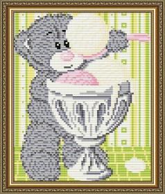 Набор для выкладки алмазной мозаикой Мишка с мороженым Art Solo АТ5530 - 248.00грн.