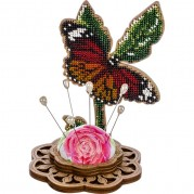 Игольница набор для вышивки бисером Бабочка