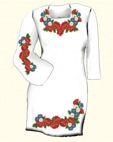Заготовка женского платья для вышивки бисером  Biser-Art Сукня 6004 (габардин) - 385.00грн.