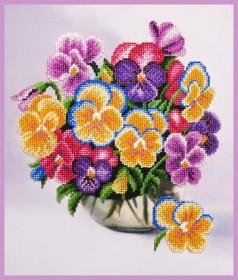 Набор для вышивки бисером Букетик виолы, , 402.00грн., Р-344, Картины бисером, Цветы
