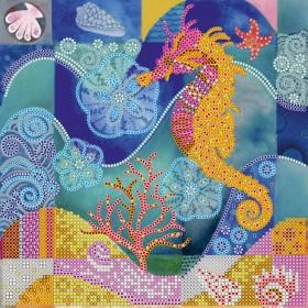 Схема вышивки бисером на холсте Морской конек, , 52.00грн., АС-497, Абрис Арт, Схемы для вышивки бисером Море-море