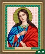 Рисунок на ткани для вышивки бисером Св. Марина (Маргарита)
