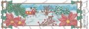 Схема вышивки бисером на атласе Панно Времена года. ЗИМА