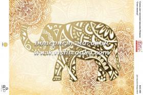 Схема вышивки бисером на атласе Слон мехенді