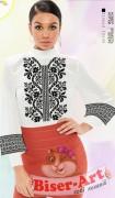 Заготовка женской сорочки на белом габардине
