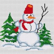 Набор для вышивки крестом Снеговичок