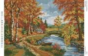 Схема для вышивки бисером на габардине Осінній пейзаж