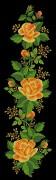 Схема вышивки бисером на атласе Желтые розы