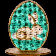 Набор для вышивки бисером по дереву Писанка кролик
