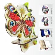 Подставка под телефон с алмазной мозаикой Бабочка в ромашках