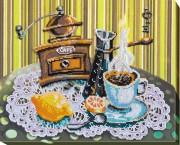Набор для вышивки бисером Кофе с лимоном