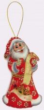 Набор для изготовления игрушки из фетра для вышивки бисером Дед Мороз Баттерфляй (Butterfly) F026
