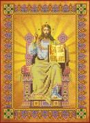 Схема вышивки бисером на холсте Господь Вседержитель