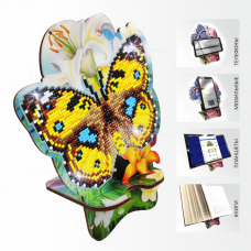 Подставка под телефон с алмазной мозаикой Бабочка и Лилии Art Solo АРМ-02