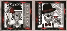 Схема для вышивки бисером на атласе Вечная любовь Диптих