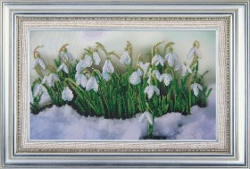 Схема вышивки бисером на ткани Весенний аккорд