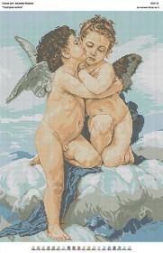Схема для вышивки бисером на габардине Поцелуй ангела