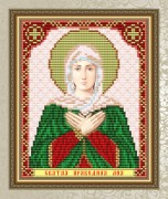 Схема для вышивки бисером на габардине Святая Праведная Лия (Лилия)