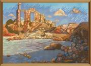Набор для вышивки крестом Древний город