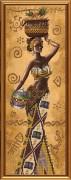 Набор для вышивки бисером Африканка с фруктами