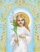 Рисунок на ткани для вышивки бисером Божья Матерь Трилетствующая (серебро)