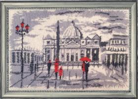 Набор для вышивки бисером Прогулка в Риме (по картине О. Дарчук), , 454.00грн., 382Б, Баттерфляй (Butterfly), Пейзажи