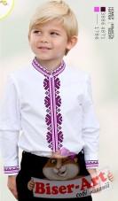 Заготовка детской сорочки на белом габардине Biser-Art Bis12115