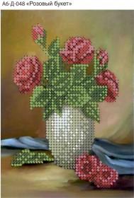 Схема для вышивки бисером на габардине Розовый букет Acorns А6-Д-048 - 23.00грн.