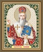 Схема вышивки бисером на габардине Святой Тарасий Патриарх Цареградский