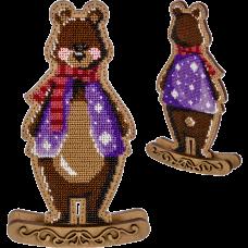 Набор для вышивки  бисером по дереву Медведь Волшебная страна FLK-289