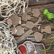Набор заготовок для вышивания по дереву