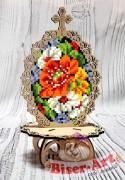 Писанка для вышивки бисером по дереву Жостовская