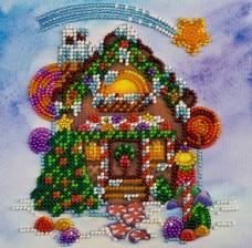 Набор для вышивки бисером на холсте Пряничный домик Абрис Арт АМ-174