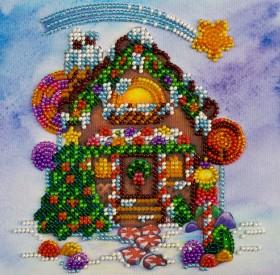 Набор для вышивки бисером на холсте Пряничный домик, , 106.00грн., АМ-174, Абрис Арт, Новый год