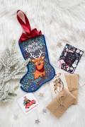 Набор для вышивки новогоднего сапожка Сказочный олень